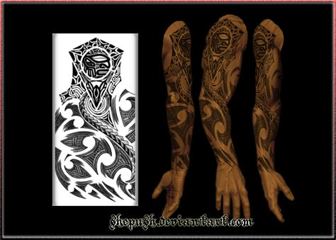 full sleeve tribal tattoo sleeve images designs