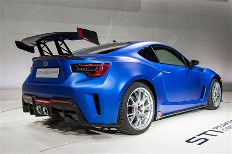 subaru brz spoiler subaru brz sti performance concept unveiled at 2015
