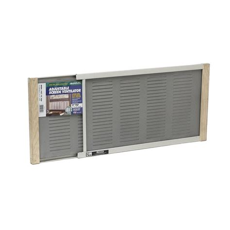 w b marvin 37 in x 10 in aluminum adjustable screen