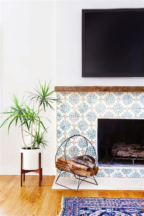 Patterned Fireplace Tiles | swoon over these 14 gorgeous patterned tile designs