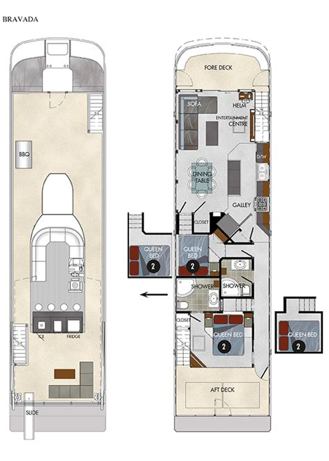 houseboat layout design 65 axiom houseboat