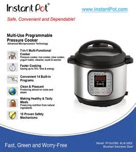 instant pot ip duo series specifications and cookbook