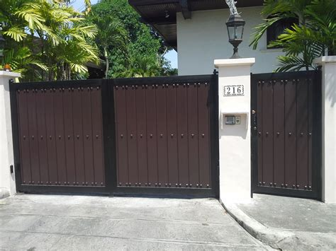 gate design steel and wood gate cavitetrail glass railings philippines tempered glass wrought iron