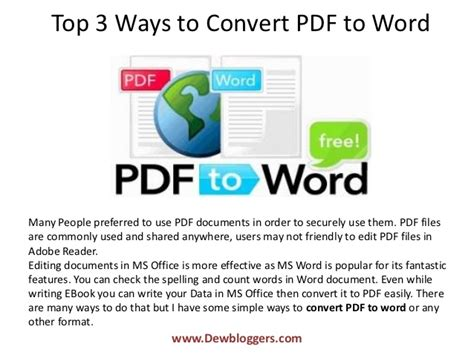 convert pdf to word best way top 3 ways to convert pdf to word