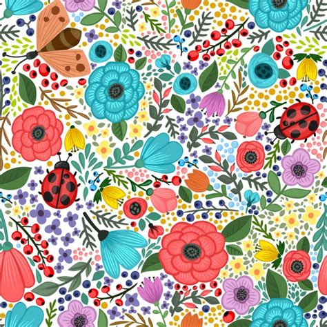 floral pattern background free download colorful floral background vector free download