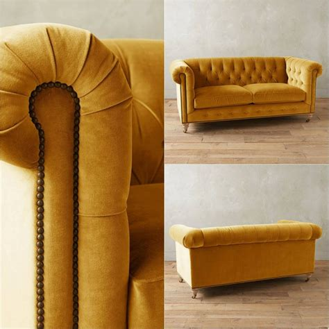 mustard yellow velvet sofa mustard yellow tufted velvet chesterfield sofa
