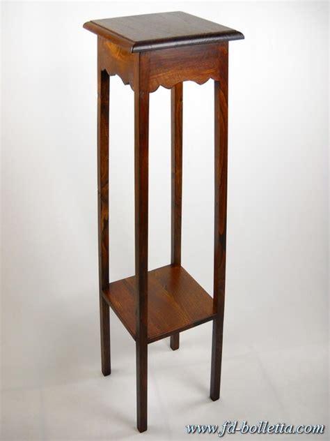 porta vasi in legno portavasi riproduzione in legno di castagno alzata