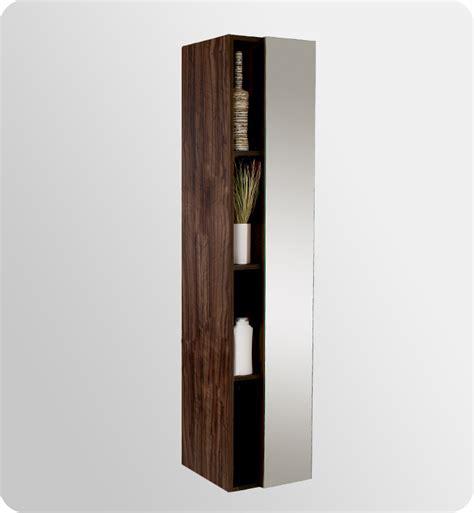 walnut mirror bathroom cabinet 16 quot fresca fst8070gw walnut bathroom linen cabinet w 4