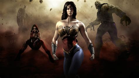 imagenes de wonder woman injustice injustice wonder woman harley quinn batman hd wallpaper