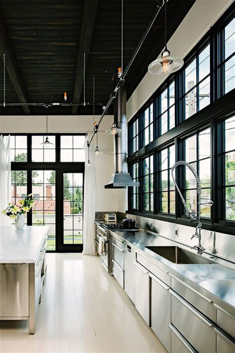 cool  minimalist industrial kitchen design home