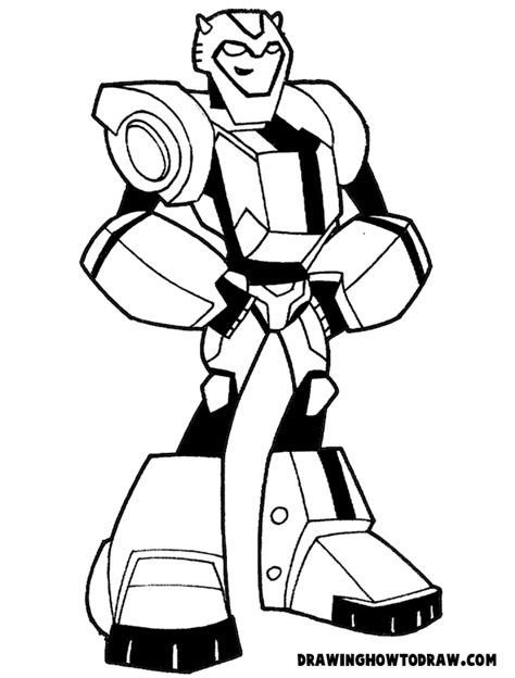 easy transformer coloring page how to draw bumblebee from transformers with step by step