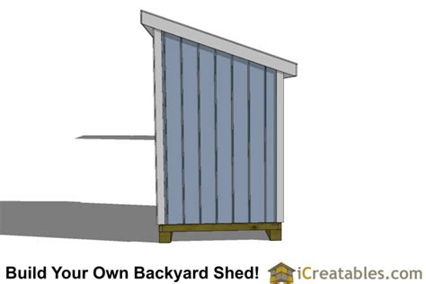 lean  shed plans icreatables sheds