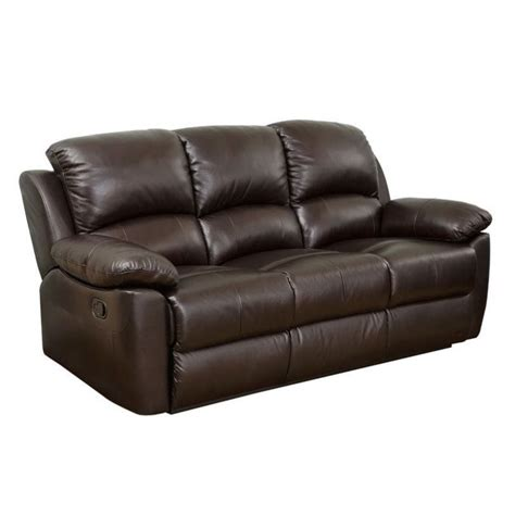 abbyson recliner abbyson living bella leather reclining sofa in espresso