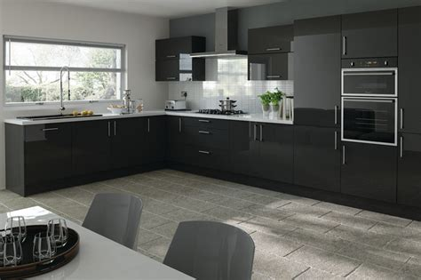 trends lewes black metallic kitchen doors modern