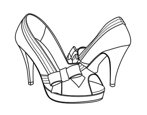 imagenes infantiles de zapatos para colorear dibujo de zapatos con lazo para colorear dibujos net