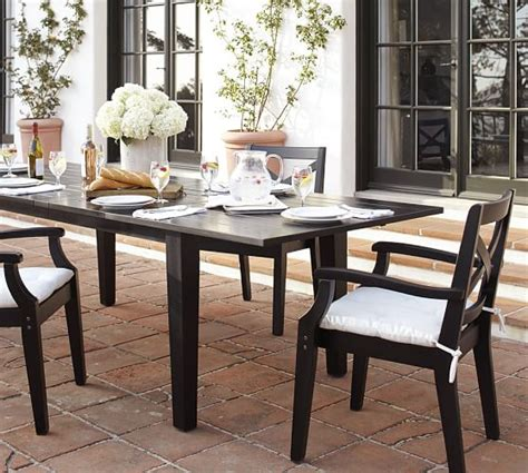 pottery barn black dining table hstead painted rectangular extending dining table