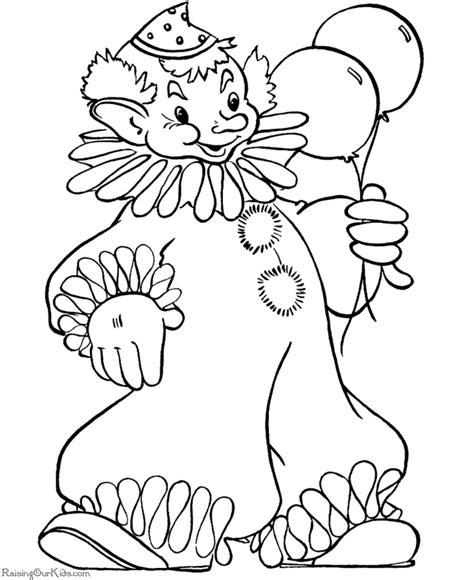 Free Printable Halloween Coloring Pages Clown 012 Free Clown Coloring Pages