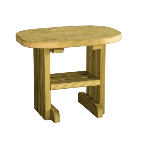 hardwood end table outdoor accent tables outdoor shop luxcraft wood end table 183 hostetler s furniture
