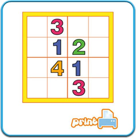 printable junior sudoku sudoku junior fun printables