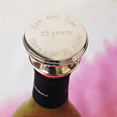 personalised wine bottle stopper by highland angel