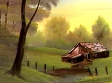 bob ross yellow painting delightful meadow home the of painting s26e2