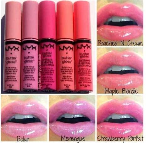 Butter Lipgloss Nyx Harga nyx butter gloss swatches makeup merengue lip gloss and you from