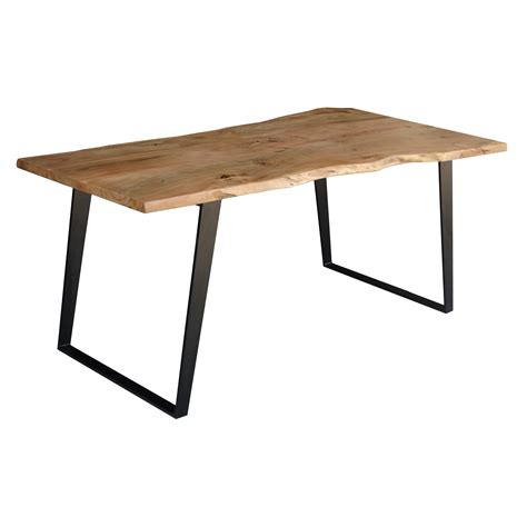 Timbergirl Solid Wood Live Edge Dining Table & Reviews