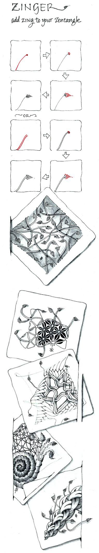 zentangle pattern zinger 94 best images about zentangle 101 on pinterest bucky