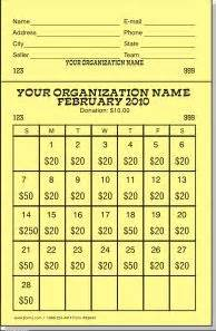 Calendar Raffle Template by 26 Best Images About Fundraising Ideas On