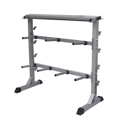 Weight Racks Home Gyms Equipment Home 2 Shelf Dumbbell Barbell Weight Rack