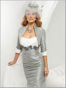 Dresses from short mother of the bride dresses with jacket silver