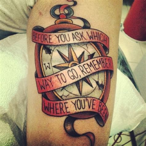compass tattoo sayings compass tattoo with quote www pixshark com images
