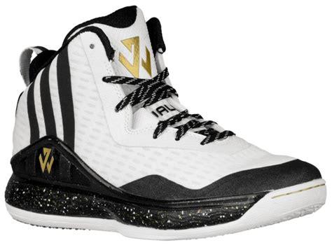 complete price adidas  wall boys grade school whiteblackgold metallic basketball shoes