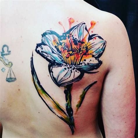 watercolor tattoo usa 25 best ideas about daffodil on