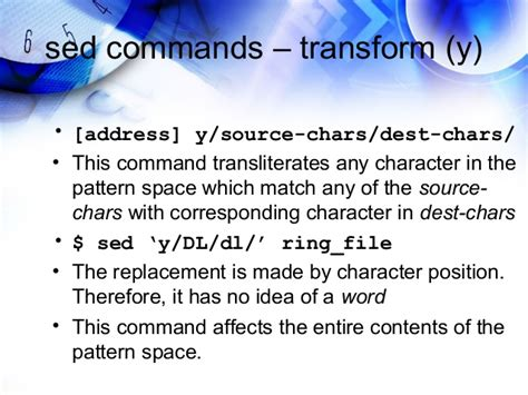 pattern matching sed learning sed and awk