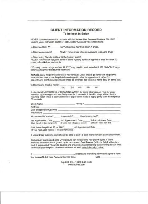 client consent form template pin salon client consent form on