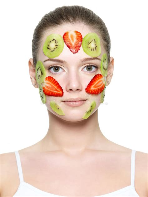 Masker Images Strawberry Fruit Mask Masker Buah Images fruit mask of strawberry and kiwi stock photo image of wellness 19070082
