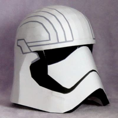 Papercraft Helmet - wars papercraft captain phasma helmet