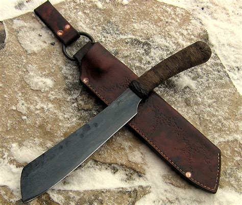 Hand Forged Kitchen Knives parang mini wildertools by rick marchand