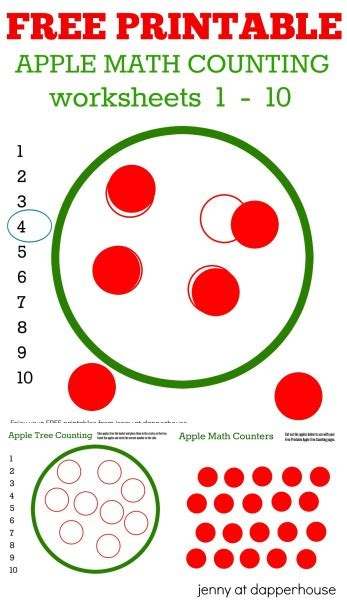 Free Apple Gift Card Number - free printable math worksheets apple tree counting free best free printable worksheets