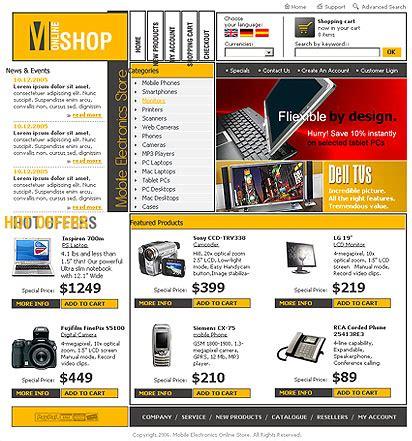 Electronics Html Website Template Best Website Templates Electronics Website Templates