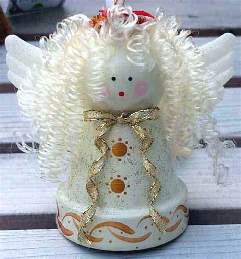 angel from a terra cotta pot by patricia s pots flower