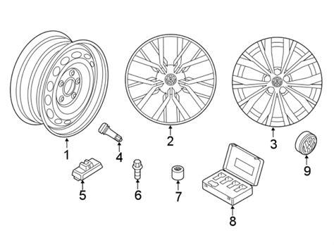 nnknq wheel  notice repair genuine volkswagen part