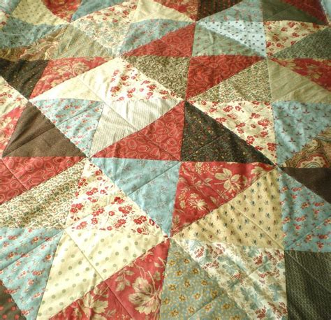 Green Patchwork Quilt - and green patchwork and wool quilt felt