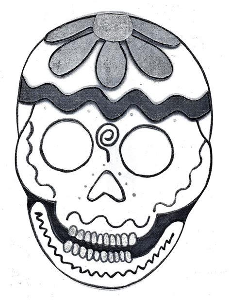 calavera mexicana dibujo pinto dibujos dibujo para colorear de calaveras de d 237 a de