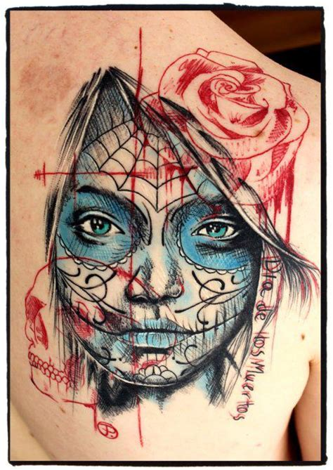 33 crazily gorgeous sugar skull tattoos designbump