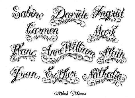 tattoo fonts maker chicano lettering font generator