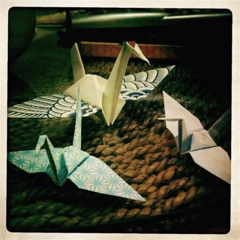 Origami Cranes Meaning - according to legend the folding of a thousand cranes