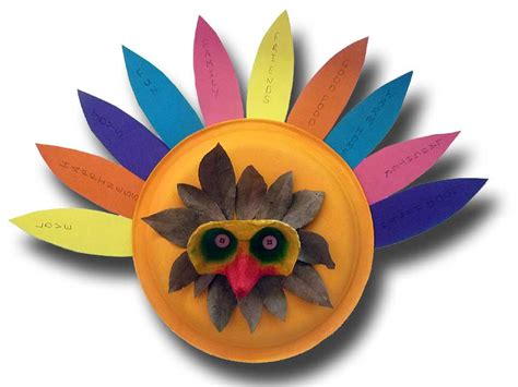 Paper Plate Turkey Crafts - easy craft july 2015