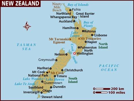 show map of with cities map of new zealand
